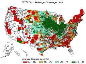 2013 Corn coverage levels