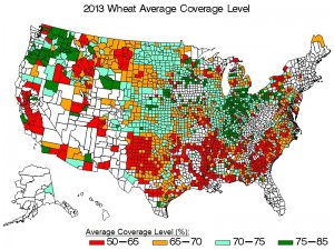 2013 Wheat coverage levels