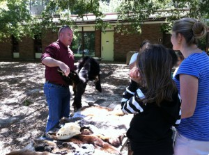 Steven Tucker teaching mammal tracks