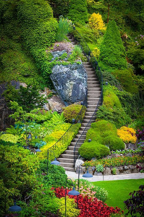 The Stairs at Butchart Gardens